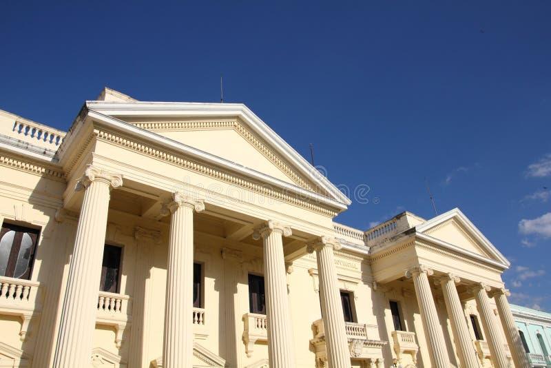 Cuba - Santa Clara. Neoclassical architecture in Santa Clara, Cuba. Jose Marti library stock images