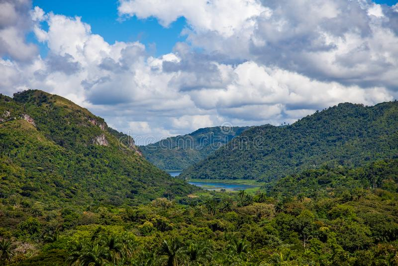 Cuba, Sierra de las montañas de Escambray fotos de archivo libres de regalías