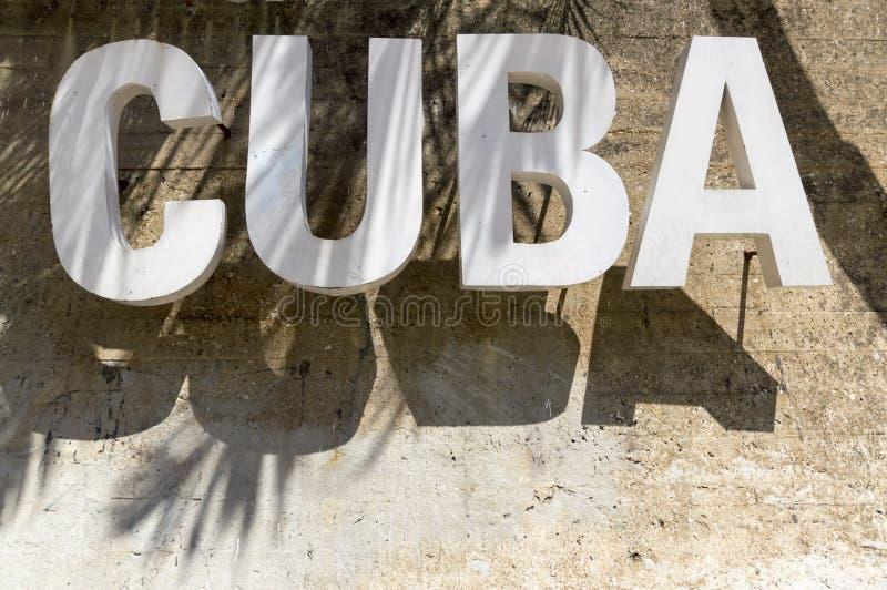 Cuba sign stock photography