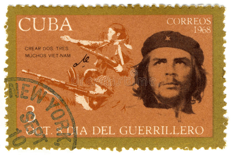 Cuba stamp with Che Guevara. Cuba stamp with Ernesto Che Guevara stock image