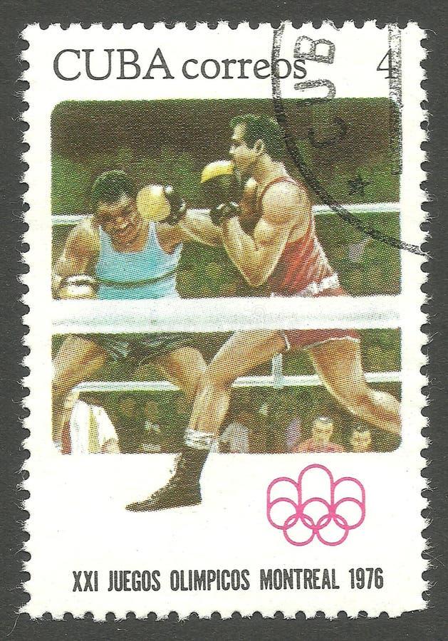 Olympics Montreal, Boxing stock photo