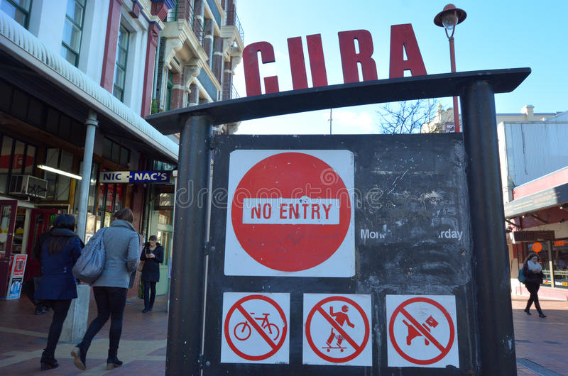 Cuba Street in Wellington New Zealand royalty free stock images