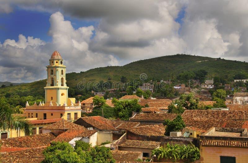 cuba town trinidad arkivbild