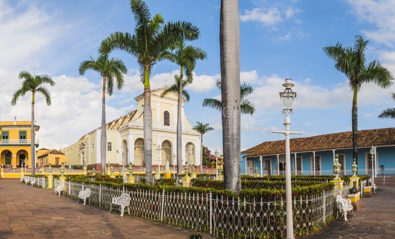 Cuba Trinidad Plaza Mayor stock image