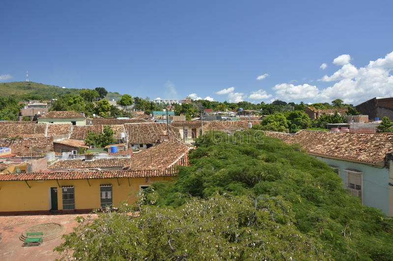 CUBA TRINIDAD VIEW FROM BELL TOWER stock photo