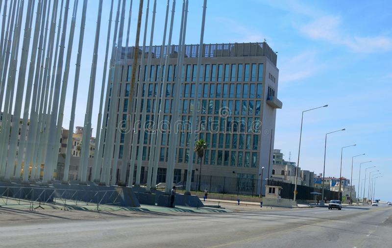 Cuba: The US-Embassy in Havanna claims to be under acustic attack. Cuba: The diplomats in the US-Embassy in Havanna claims to be under acustic attack stock photos