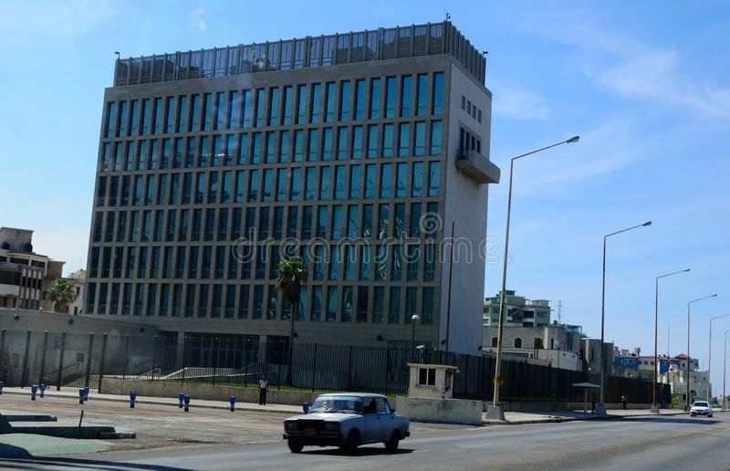 Cuba: The US-Embassy in Havanna claims to be under acustic attack. Cuba: The diplomats in the US-Embassy in Havanna claims to be under acustic attack stock photography