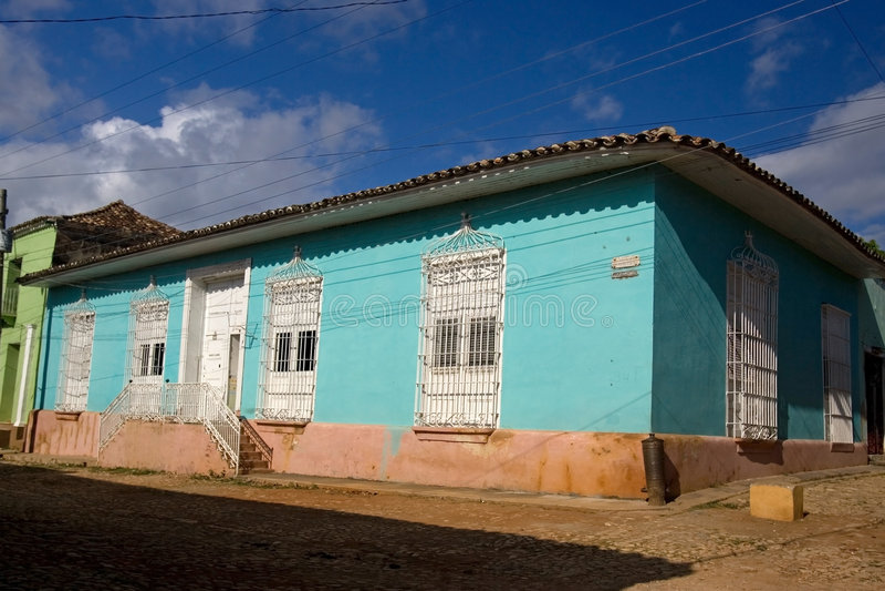 Cubaans huis royalty-vrije stock foto's