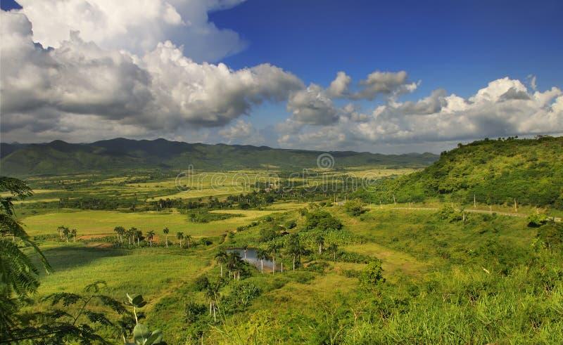 Cubaans plattelandslandschap - escambray siërra royalty-vrije stock fotografie