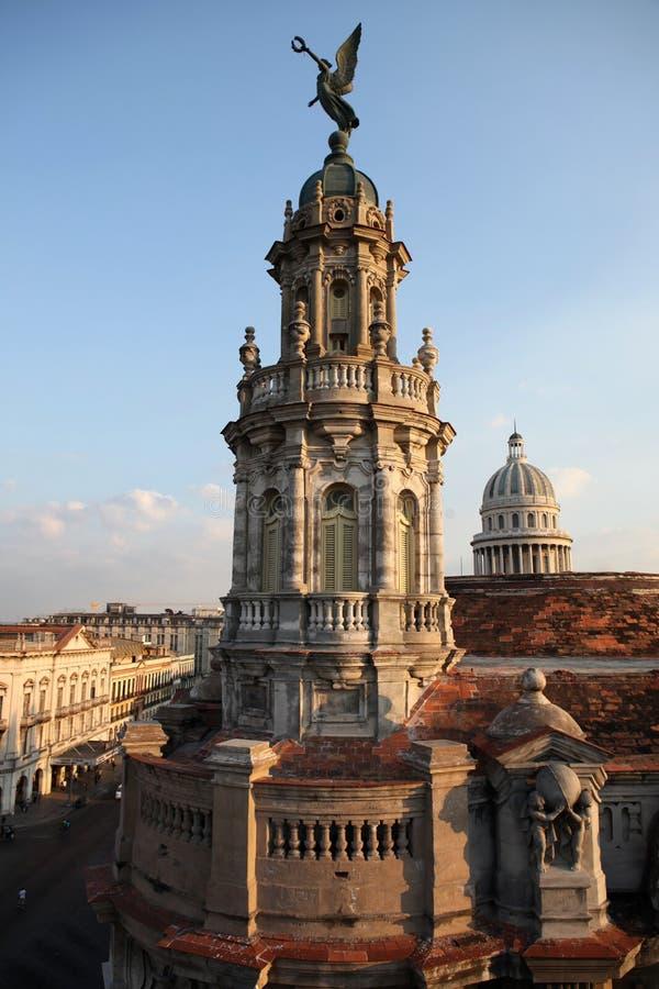 Cubaanse Architectuur in Havana stock foto