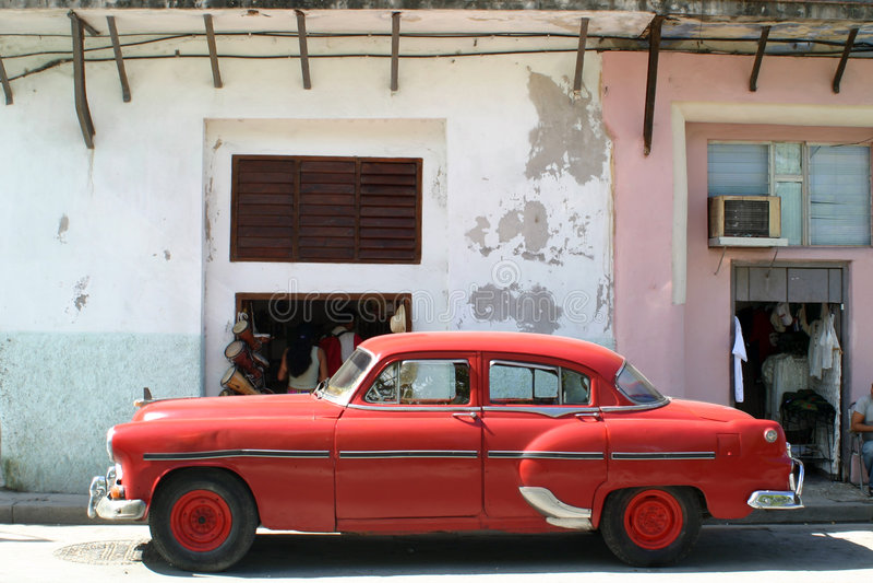 Cubaanse Klassieke Auto stock foto's
