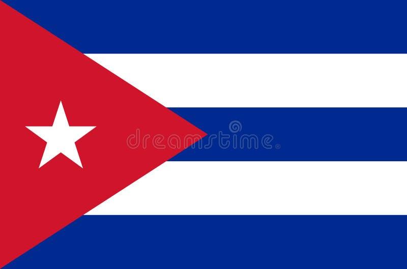 Cubaanse nationale vlag in nauwkeurige kleuren, officiële vlag van Cuba in nauwkeurige kleuren stock illustratie