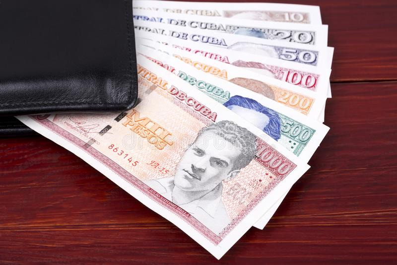 Cubaanse Peso's in de zwarte portefeuille