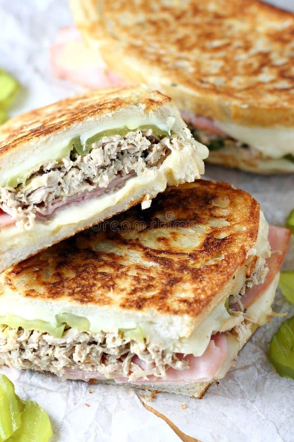 Cubaanse sandwiches stock afbeeldingen