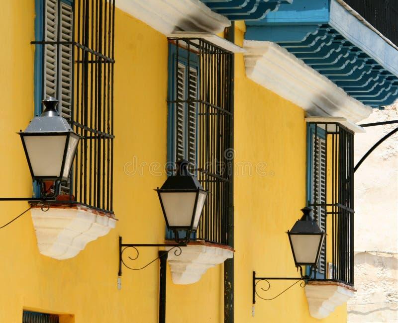 Cubaanse Straatlantaarns royalty-vrije stock afbeeldingen