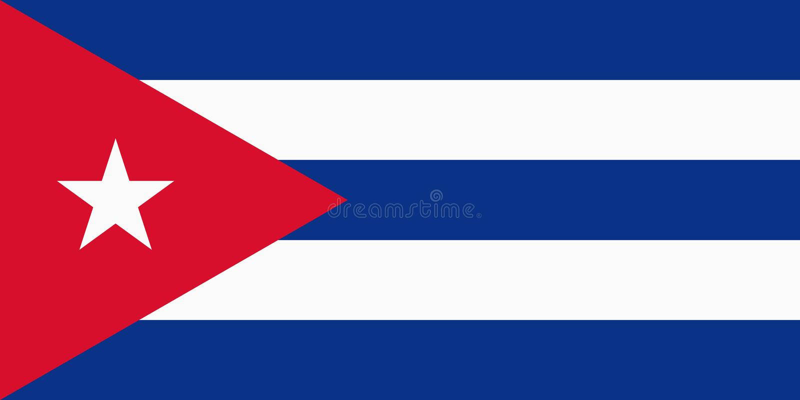 Cubaanse vlag vector illustratie