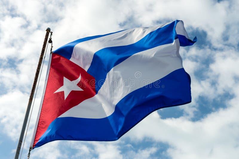 Cubaanse Vlag stock fotografie