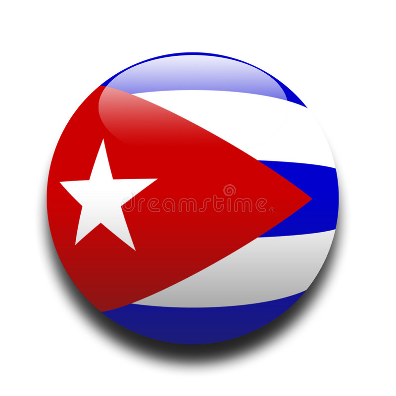 Cubaanse vlag vector illustratie