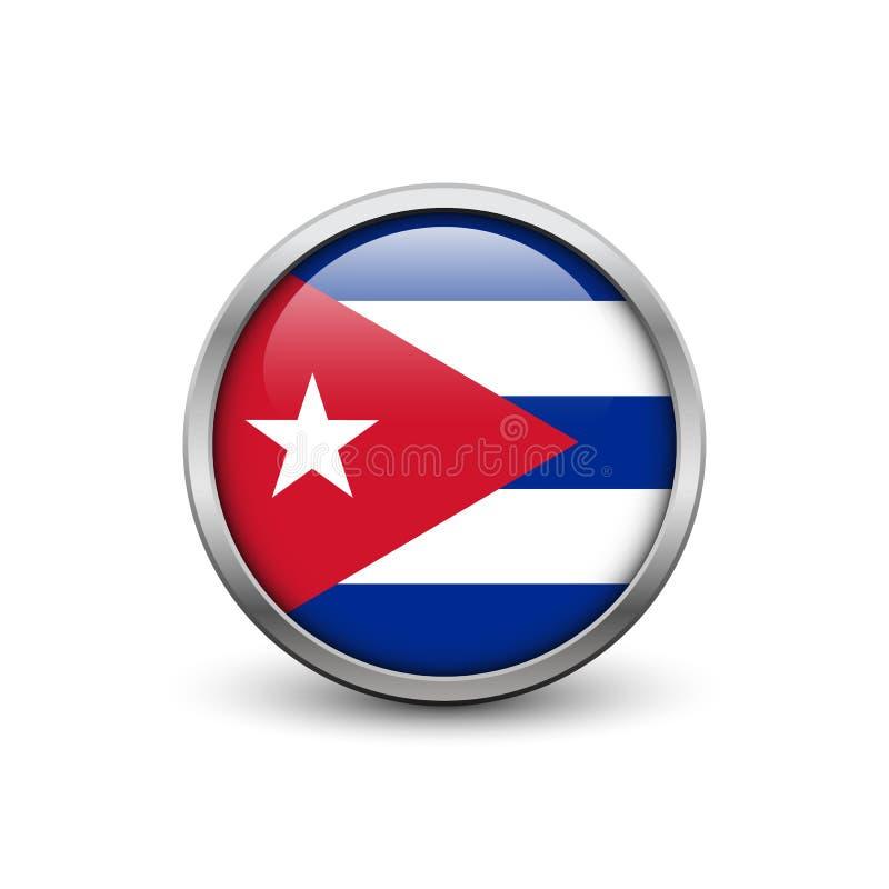 Cubaanse vlag stock illustratie
