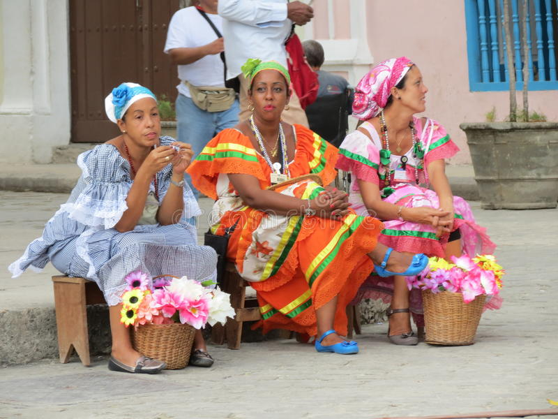 Cubaanse Vrouwen royalty-vrije stock afbeelding