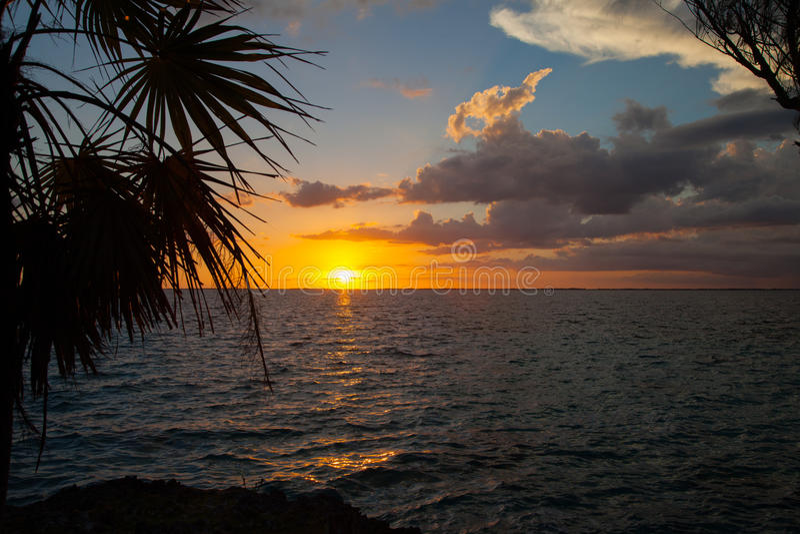 Cubaanse Zonsondergang royalty-vrije stock fotografie