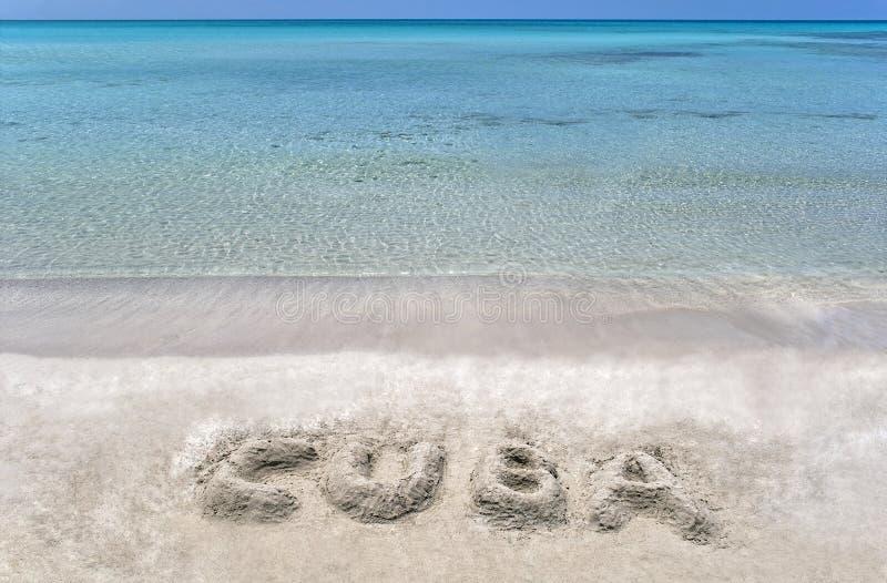 Cuban beach. royalty free stock photography