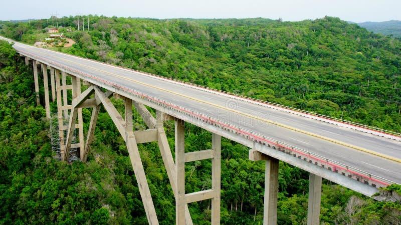 Cuban bridge. province Mantanzas. Cuban bridge across the valley in the province of Mantanzas royalty free stock photography