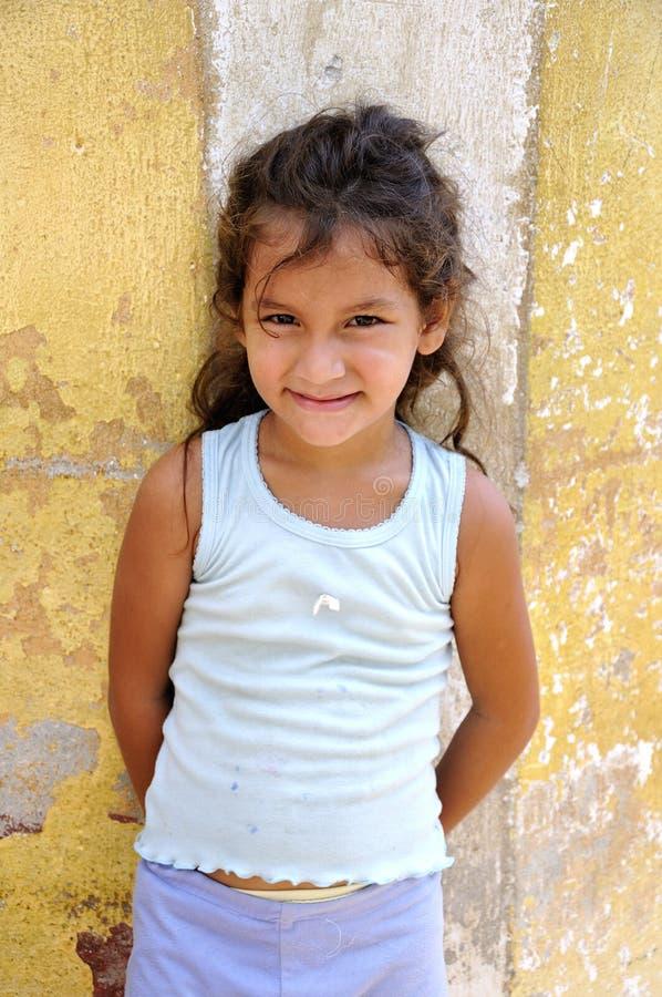 Cuban child on the street royalty free stock photos