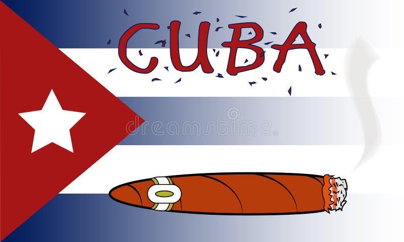 Cuban Cigar. Illustration of a Cuban Cigar royalty free illustration