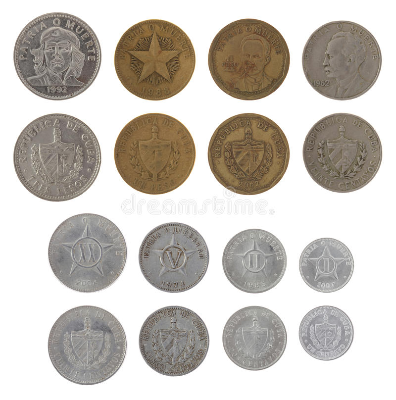 Free Cuban Coins Isolated On White Stock Image - 26945581