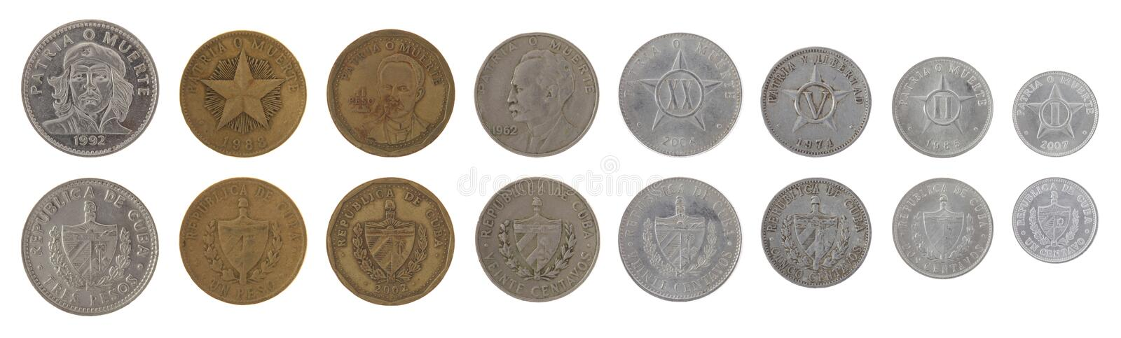 Download Cuban Coins Isolated On White Stock Image - Image of cuban, currency: 26834985