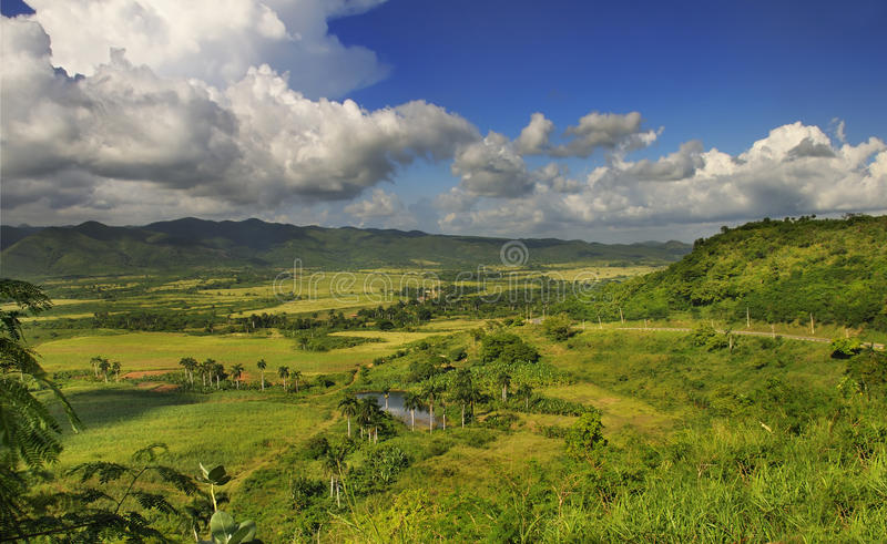 Cuban countryside landscape - escambray sierra royalty free stock photography