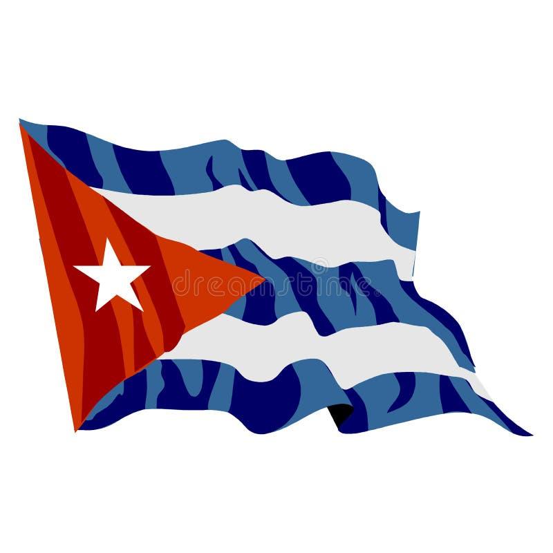 Cuban Flag royalty free illustration