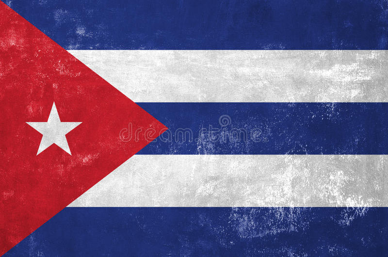 Cuban Flag royalty free stock photos