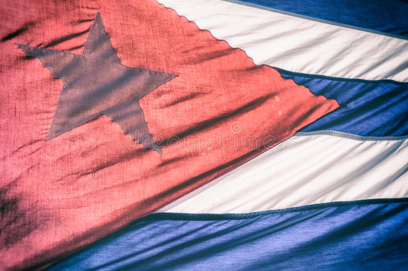 Cuban Flag Sunlight stock images