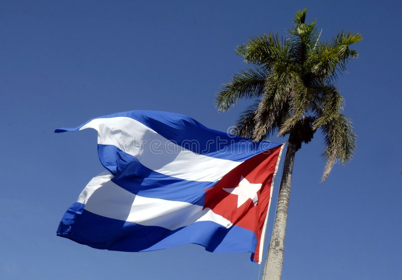 cuban flaga fotografia royalty free