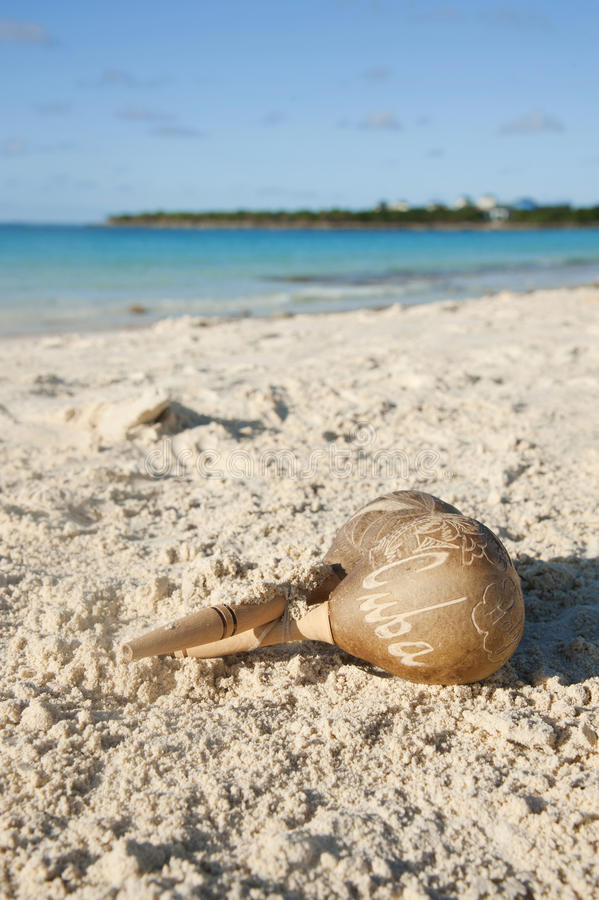 Cuban Rattles on a sand royalty free stock images