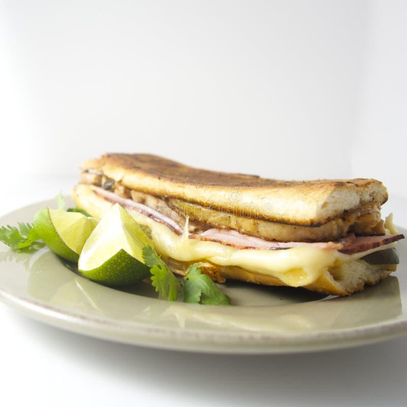 Cuban sandwich. El cubano, like in Chef royalty free stock photography