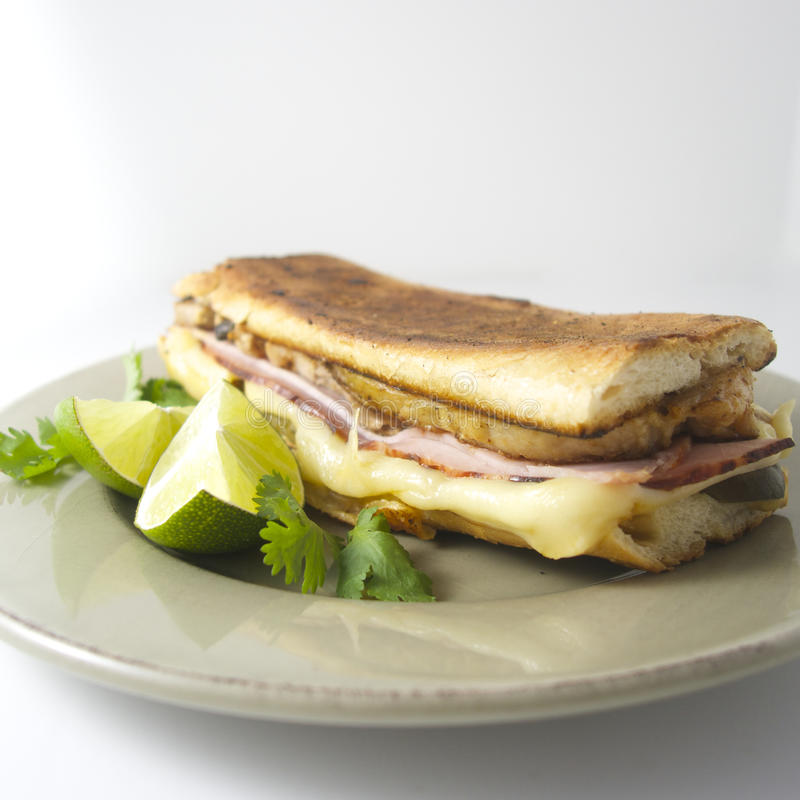 Cuban sandwich. El cubano, like in Chef royalty free stock images