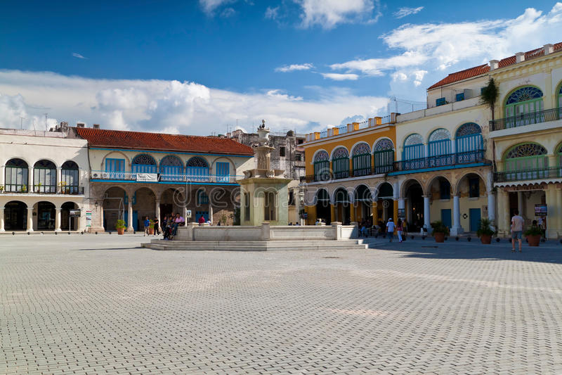 cubans Havana kwadratowi turyści obraz stock