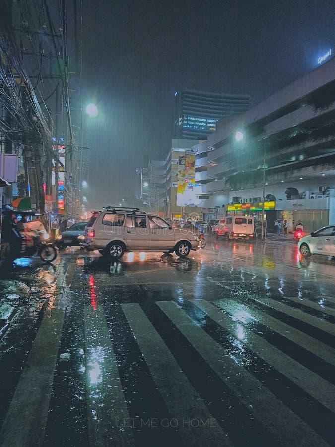 Cubao rainy evening. Alimall Cubao rainy evening edited using snapseed stock photos