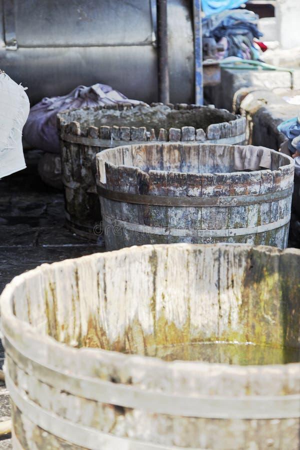 Cubas Dhobhi Ghat da lavanderia do carvalho imagem de stock royalty free