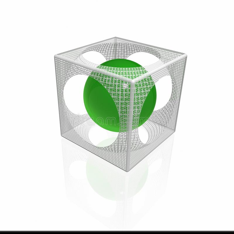 Download Cube stock illustration. Image of choas, build, science - 10841875