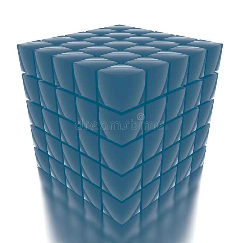 Download Cube_2 stock illustration. Image of build, isolated, unique - 22881302