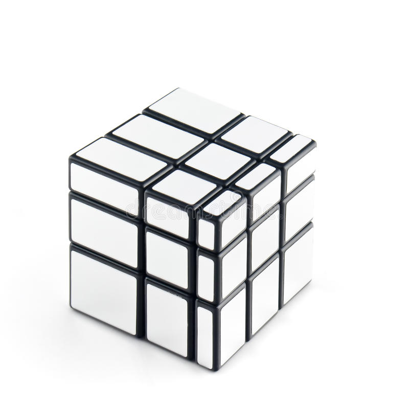 Cube. Structure similar to Rubik's cube on a white background royalty free stock photography