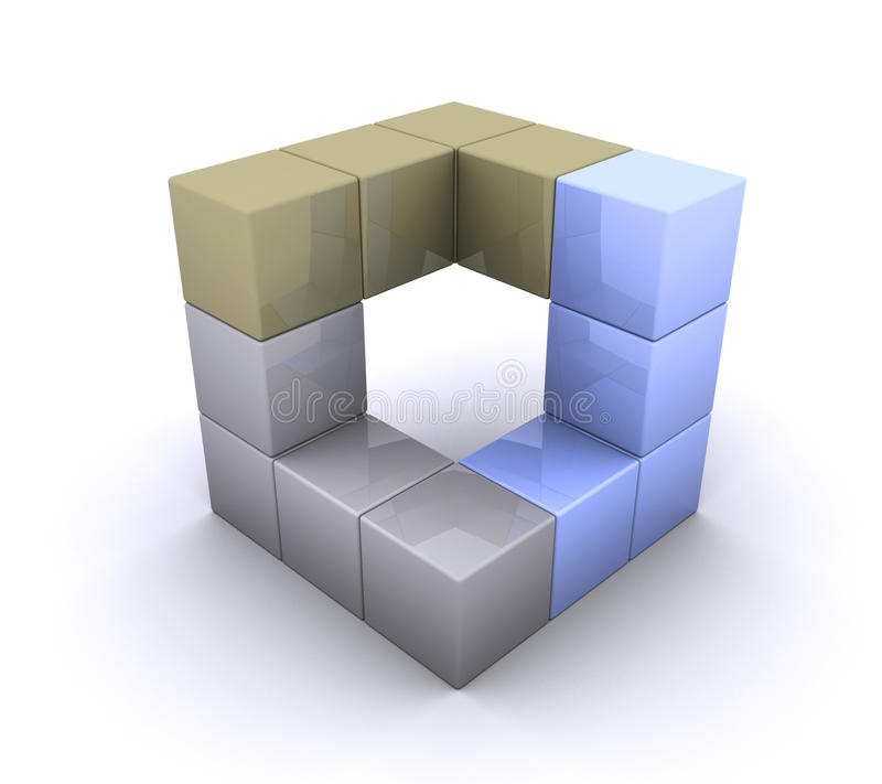 cube 3D illustration libre de droits