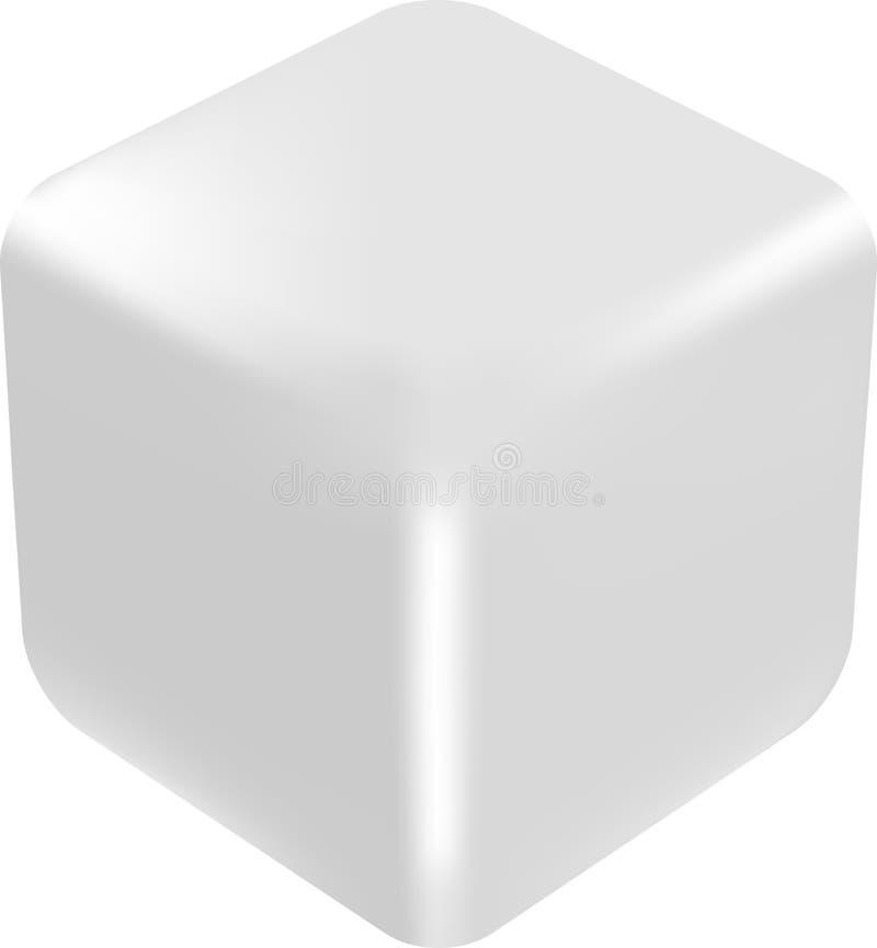 Cube 3d blanc illustration stock