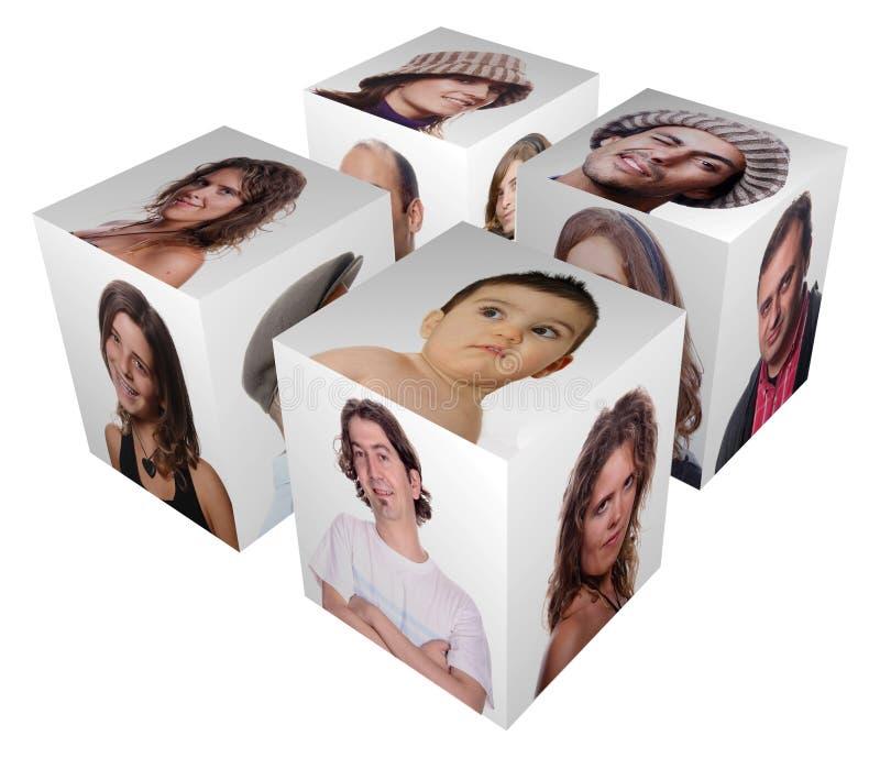 Cube stock illustration