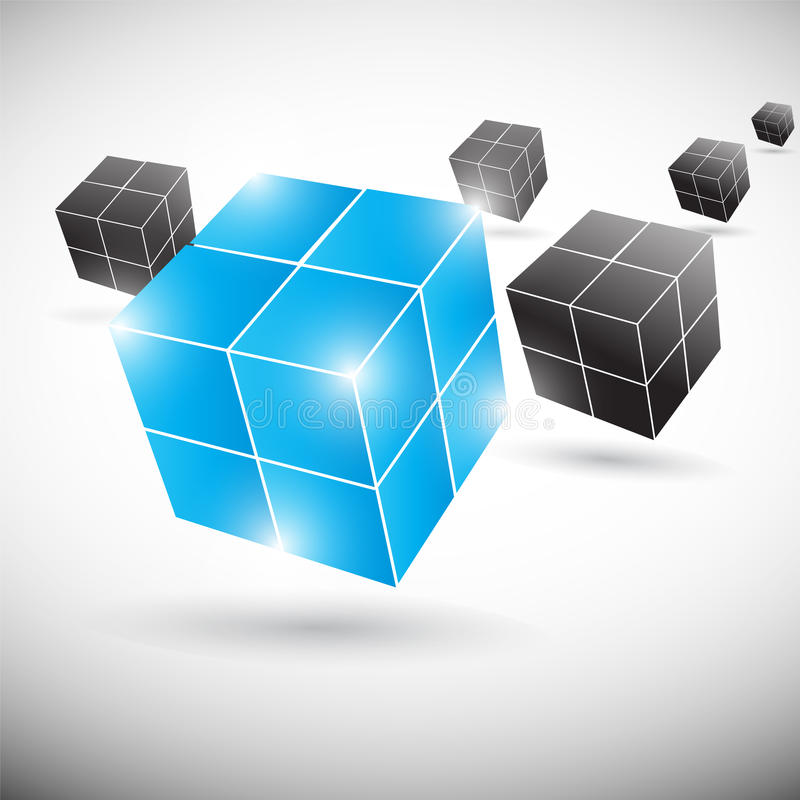 Cube abstract background stock illustration