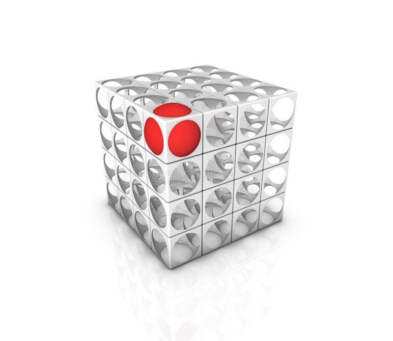 Cube abstrait illustration stock